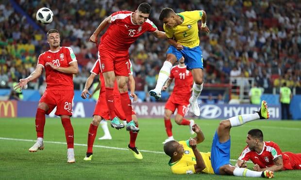 Thiago Silva scores Brazil's second goal