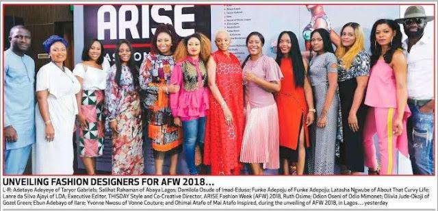 ARISE Fashion Week (AFW) 2018- Meet The Designers!