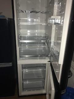 inside black gorenje fridge freezer