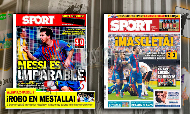 robo del Barcelona en Mestalla