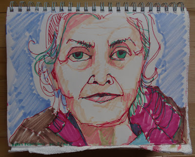 jean pederson artist mom portrait copic markers