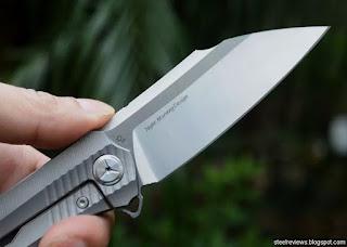 TwoSun TS50 Night Morning Design titanium  frame-lock flipper