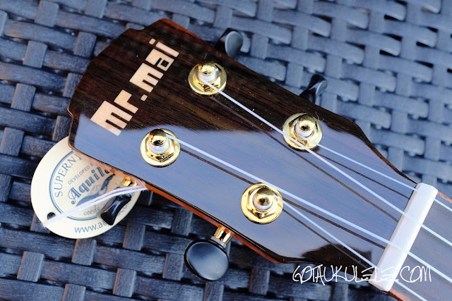 Mr Mai MD-T Tenor Ukulele headstock