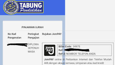 Panduan Bayaran PTPTN Melalui JomPay PTPTN