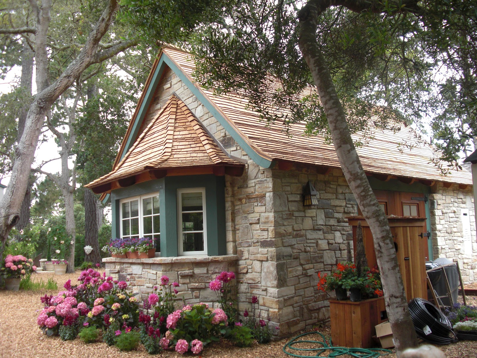 Small Tiny Bungalow House Model A67: Carmel House And Garden Tour 2012 (Hugh Comstock