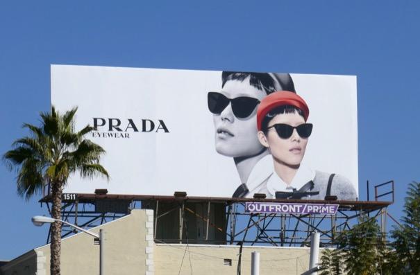 Prada eyewear Spring 2019 billboard