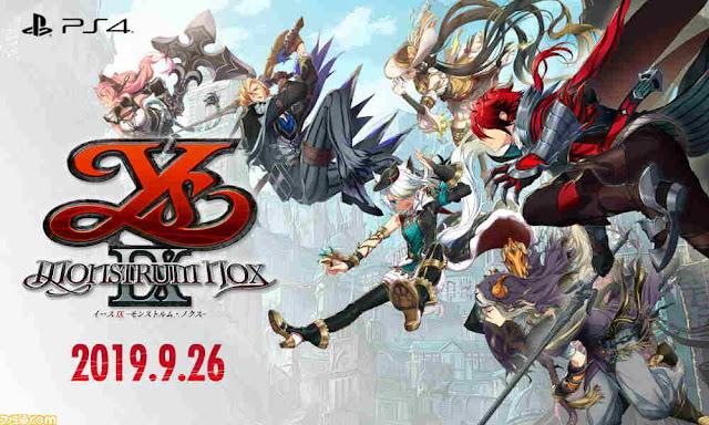 Game PS4 Ys IX: Monstrum Nox Dirilis di Jepang 26 September