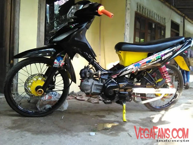 Vega RR Modif Simple Ban Kecil