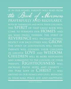Lds Parenting Small And Simple Things Family Scripture Study