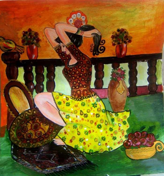 Грузинская художница. Maia Kvelidze