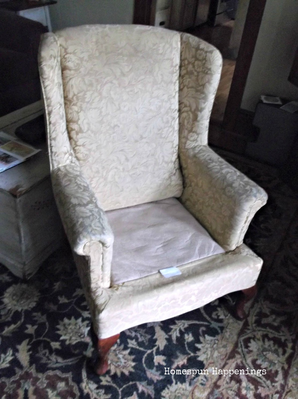 Homespun Happenings My First Upholstered Wing Chair