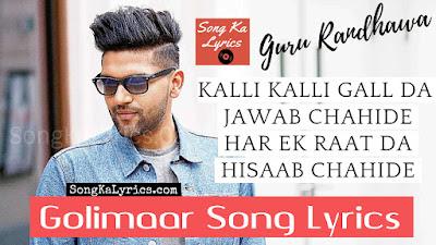 golimaar-lyrics-new-guru-randhawa-song-vee-t-series-punjabi