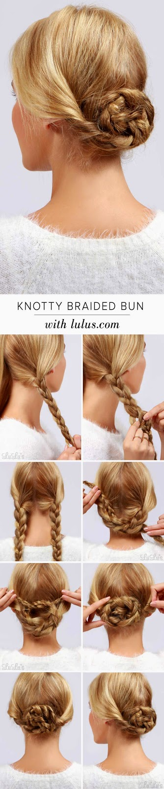 Knotty Braided Bun Hair Tutorial