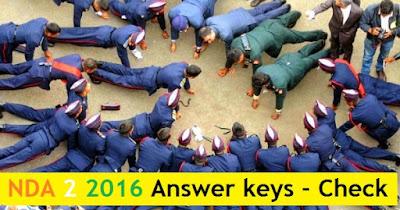 NDA 2 2016 Answer keys - 18th September 2016 Exam