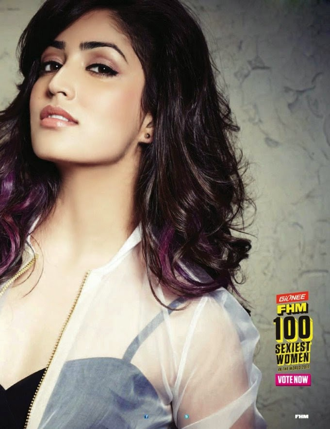 Yami Gautam in see-through shirt in FHM Magazine photoshoot