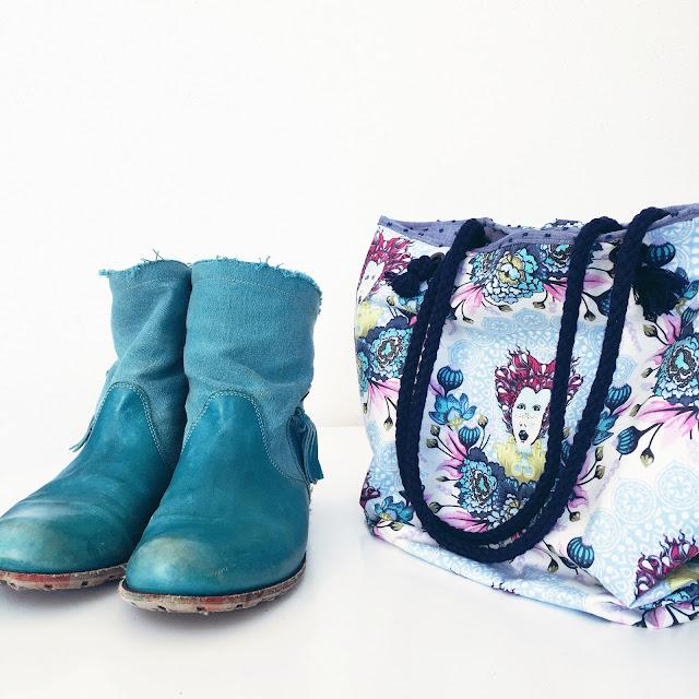 GrinseStern, Tasche, Nähliebe, Tutorial, Tula Pink, Strandtasche