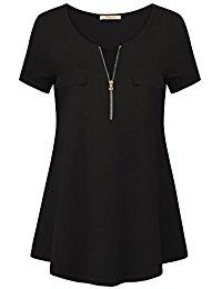 Buy Womens Short Sleeve V Neck Tunic Shirt From Amazon
