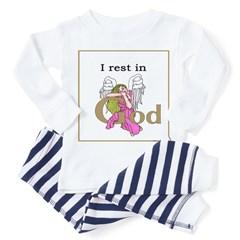 I Rest in God Angel Baby Pajamas