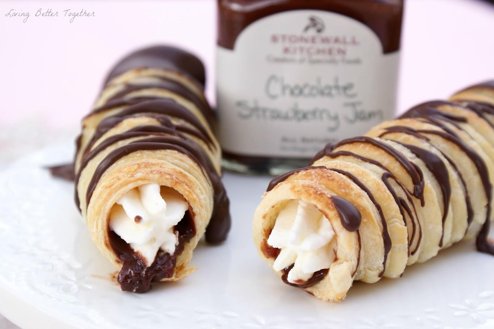 Stonewall Kitchen Dark Chocolate Sea Salt Caramel Sauce Outdoor Countertops Strawberry Cream Horns - Living Better Together