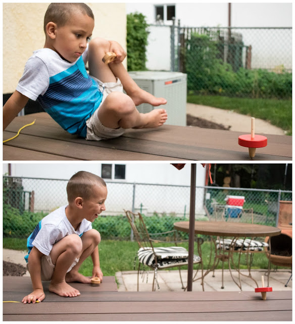 Spinning top toys are great developing fine motor skills and are just plain fun! Here are some fun spinning top options for children (5-6 year olds)