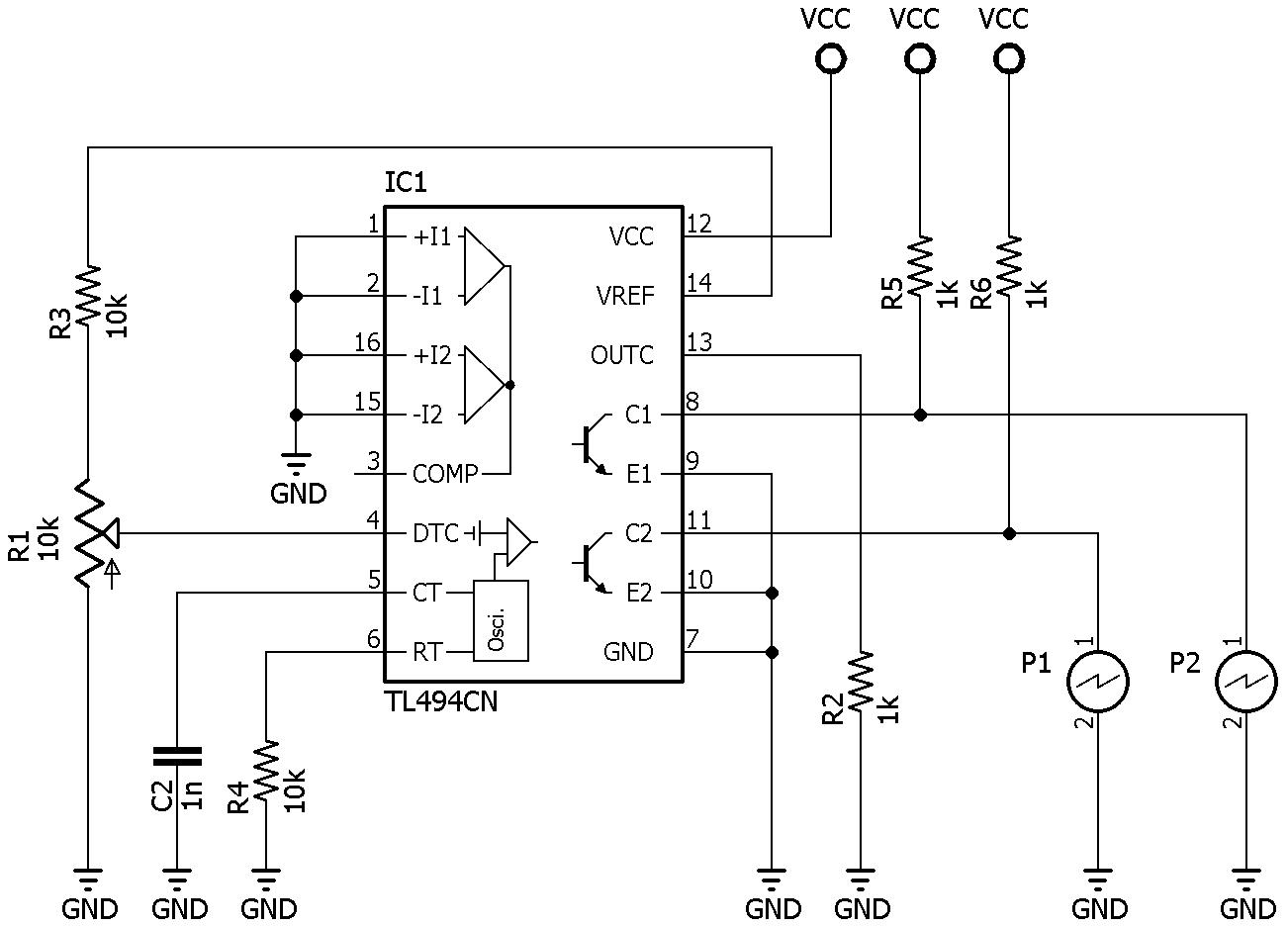 electgpl  prueba de funcionamiento del tl494