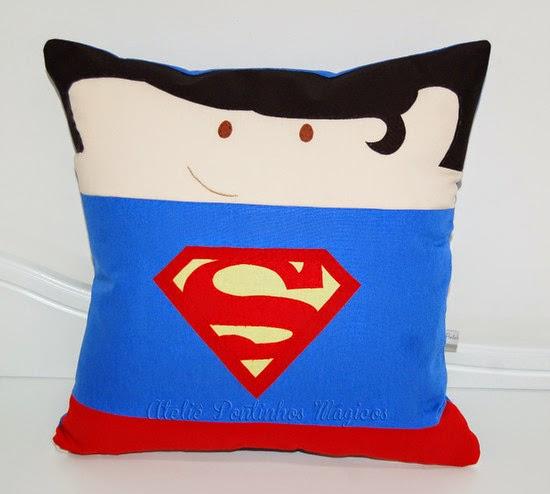 a4346f5e64 Santa Clara Artesanato: Almofadas de Super heróis