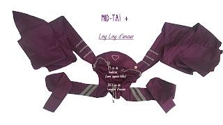 mid-taï + LLA ling ling d'amour mei-tai pas cher bretelles mixtes à nouer coton bio porte-bébé portage bébé évolutif