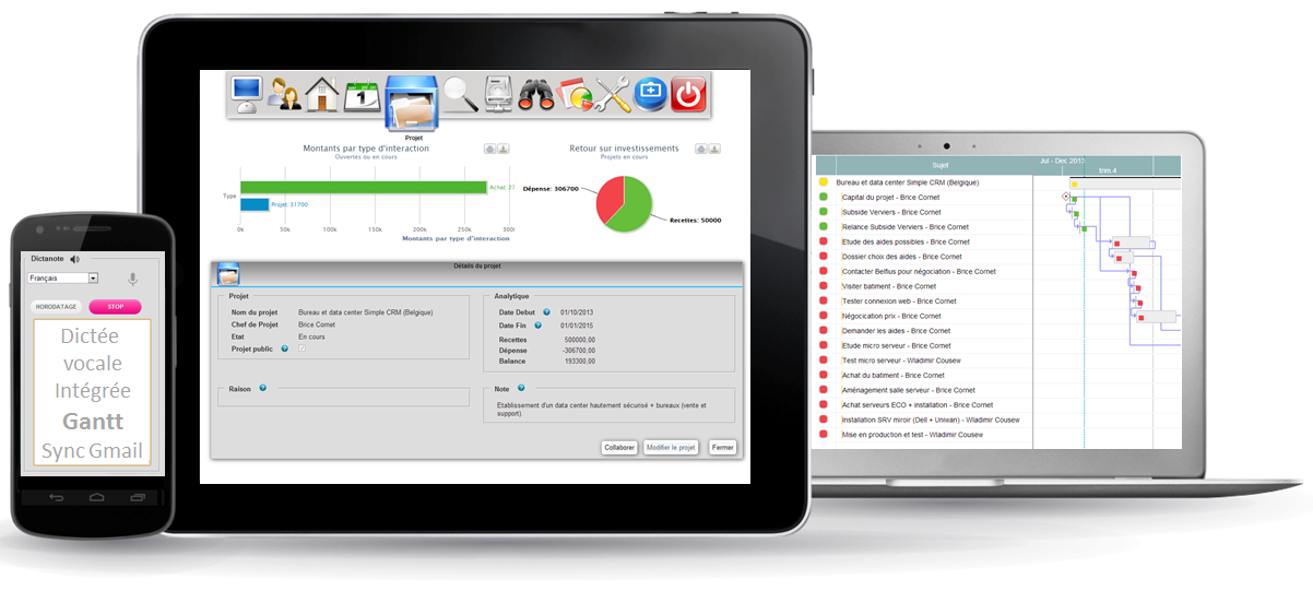 Online CRM for call center: Functionalities proposed by