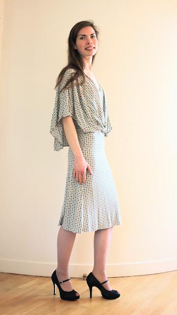 robe de cérémonie sur mesure par couturière à Versailles