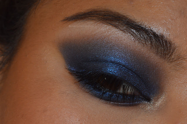 Camden town, neve cosmetics, made with neve, blu smokey, inglot eyeshadow 300