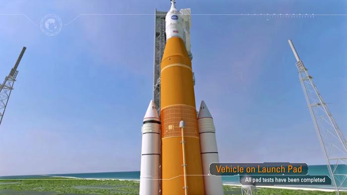 Kiểm tra kỹ thuật trước giờ phóng. Đồ họa: NASA.