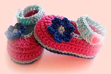 Patron zapatitos de bebe ganchillo/crochet