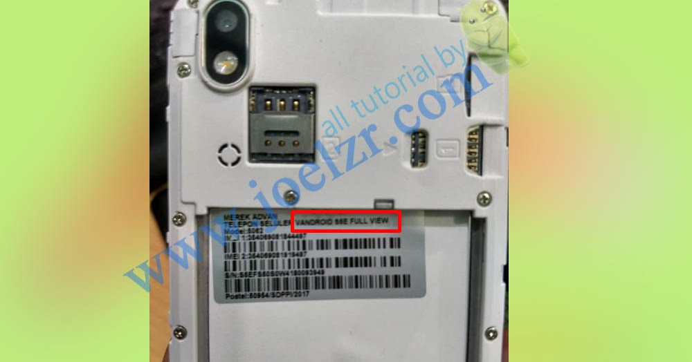 Cara Flash Advan S5e Full View Model 5062 Os 7 0 Nougat