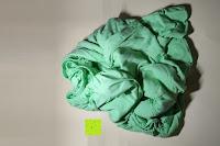 zusammengeknüllt: GOLD STERN Baumwolle Jersey-Stretch Spannbettlaken 140-160 x 200 cm, Apfel-Grün