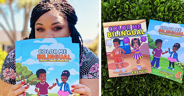 B.M. Hardin, author of Color Me Bilingual coloring book series