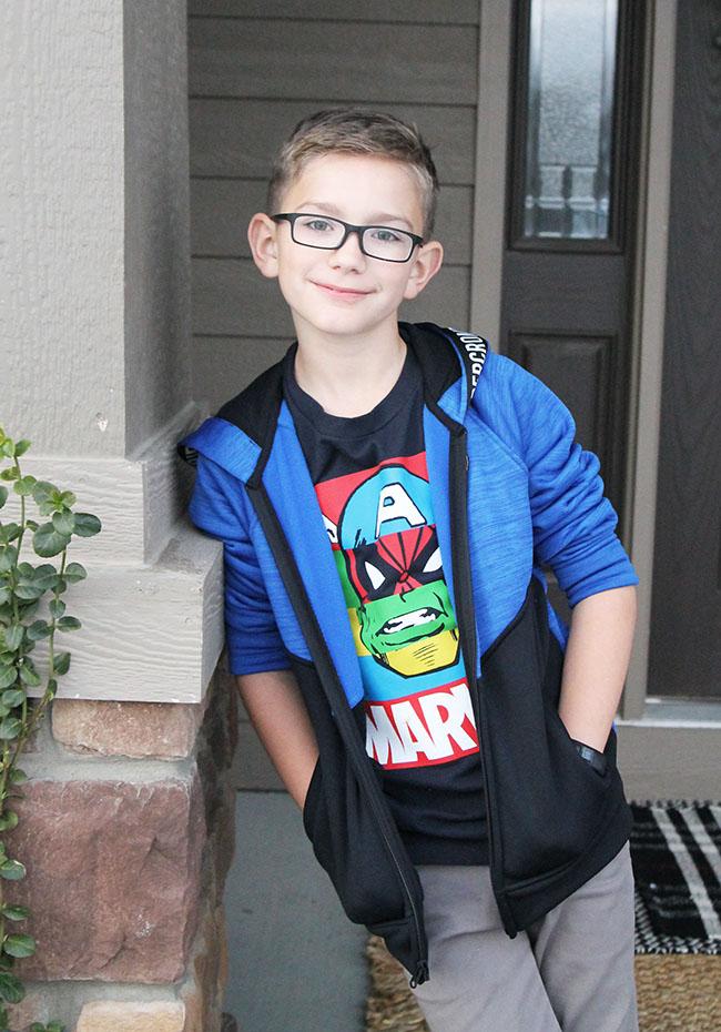 Easton Nickels Wearing Abercrombie Kids