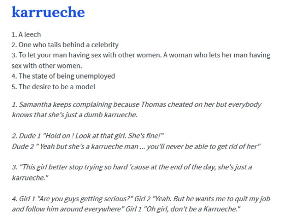 why na not nice lol see urban dictionary meaning of karrueche