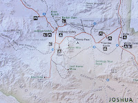Joshua Tree National Park map, Ryan Mountain Trail area