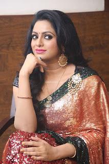 Udaya Bhanu lookssizzling in a Saree Choli at Gautam Nanda music launchi ~ Exclusive Celebrities Galleries 016.JPG