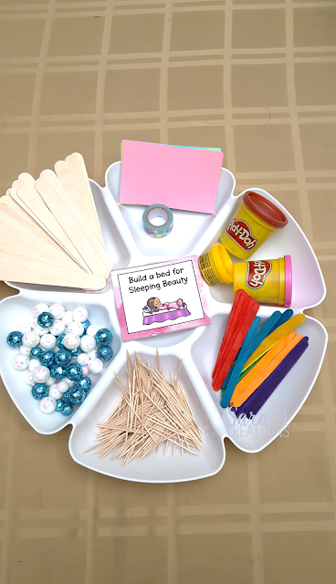 STEM challenges with a princess theme that includes FREE challenge cards. Just add your own STEM supplies.