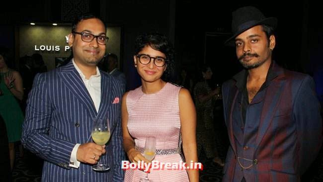 Kiran Rao with Che Kurrien, Editor, GQ India and Vijendra Bhardwaj, Evelyn, Kim, Nargis Sizzle at GQ Best Dressed Men 2014 Awards