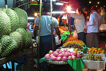 yangon nightlife pictures with fruits