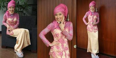 contoh model hijab modern untuk kebaya