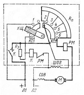 Схема пускового реостата