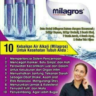 Milagros Adalah Air Alkali atau Air Basa