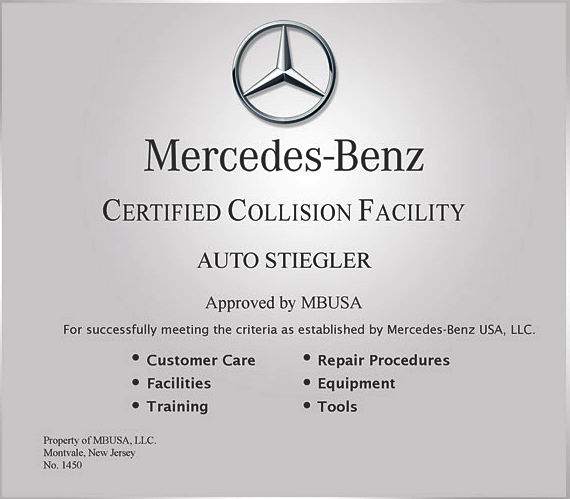 Mercedes-Benz certification training