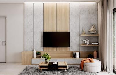 Ide Dekorasi Rak TV Dinding