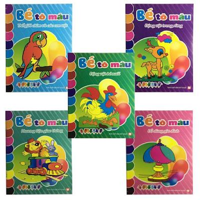 sách tô màu cho bé
