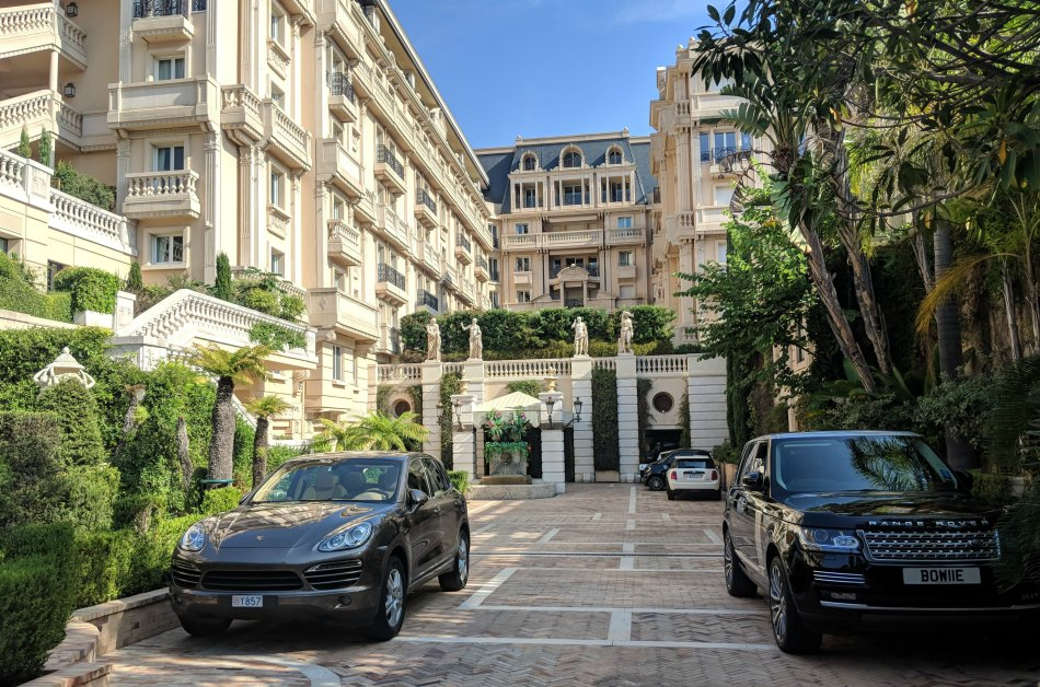 The exterior of the five-star luxury Hotel Metropole in Monte Carlo