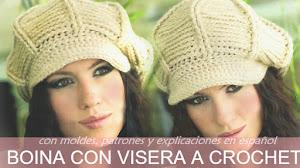 Así se teje Gorro/Boina con Visera a Crochet